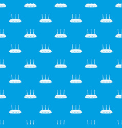 router pattern seamless blue vector image
