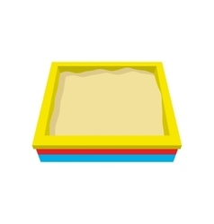 Sandbox cartoon icon vector