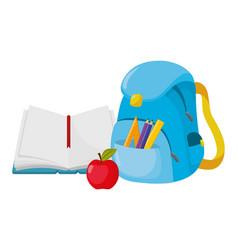 school book cartoon vector image