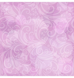 Seamless gentle pink floral vector image vector image