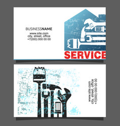 Service business card vector