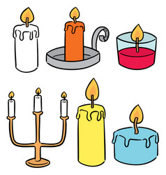 Set candle vector