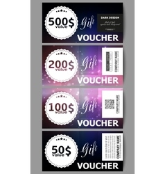 Set of modern gift voucher templates Flashes vector image