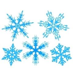 Set snowflake flake snow vector