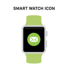 Smart Watch with message icon vector
