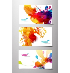 splash gift cards vector image