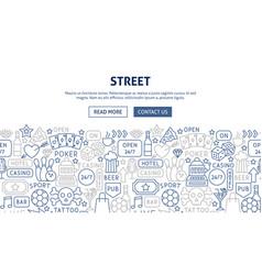 street signs banner design vector image