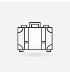 Suitcase icon or logo vector