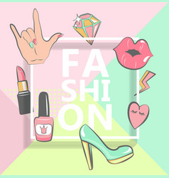 template for fashion vector image
