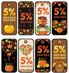 thanksgiving tags vector image