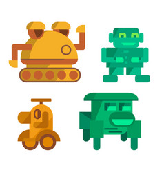 toy robots icons vector image