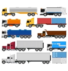 Trucks and trailers vector