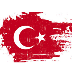 turkish scratched flag vector image