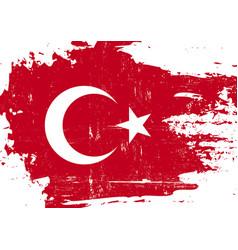 Turkish scratched flag vector