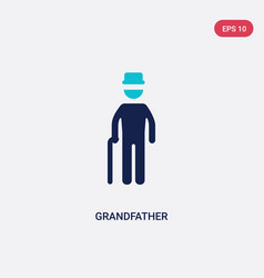 Two color grandfather icon from family relations vector