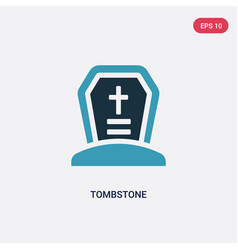 Two color tombstone icon from religion concept vector