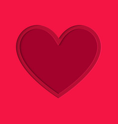 valentines day paper cut style heart symbol on vector image
