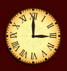 vintage clock with needles vector image