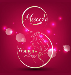 women day stylish element for light background vector image