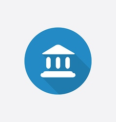 court law Flat Blue Simple Icon with long shadow vector image