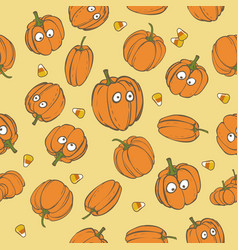 halloween holiday seamless pattern background vector image
