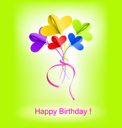 Happy Birthday background with abstract bouquet vector image vector image