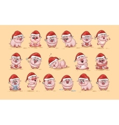 isolated Emoji character cartoon Pig vector image vector image