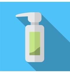 Pump bottle flat icon vector image