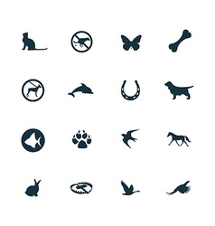 set of animals pets icons vector image vector image