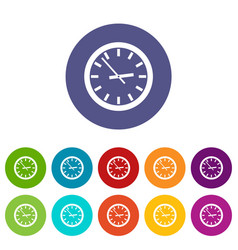 watch set icons vector image vector image