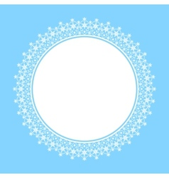 White frame of snowflakes vector image