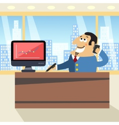 Boss in office vector image
