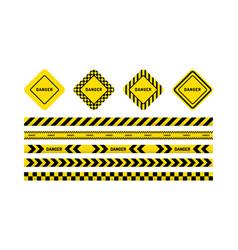 danger tapes danger sign vector image