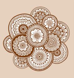 ethnic henna mehndi ornament indian style vector image