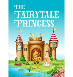 Fairy tale princess and knight vector image vector image