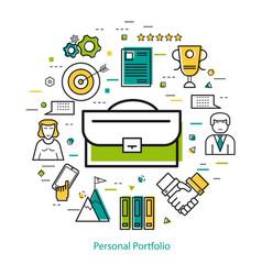 line art concept - personal portfolio vector image vector image
