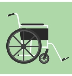 wheelchair isolated silhouette vector image vector image