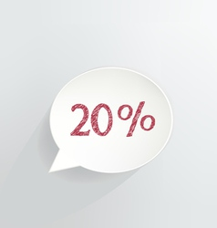 20 Off vector image