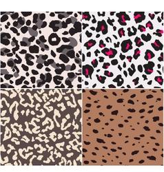 animal skin textures vector image vector image