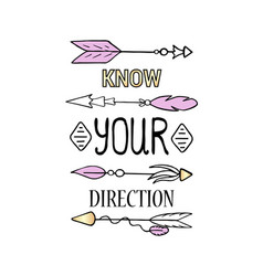 know your direction poster vertical print vector image