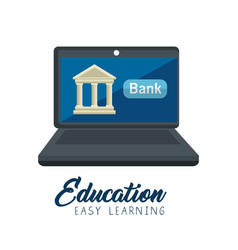 online education concept icon vector image