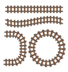 Passenger train rail tracks brush railway vector