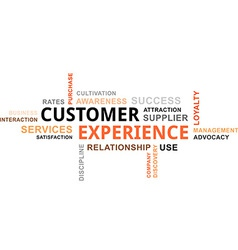 Word cloud customer experience vector
