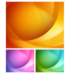 Abstract shapes swirl backgrounds set vector image vector image