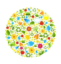 Eco Ball vector image vector image
