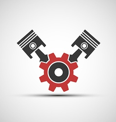 Icon of automotive engine vector