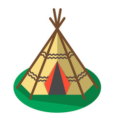 indian traditional tent icon isolated vector image vector image