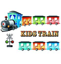 Kids train vector