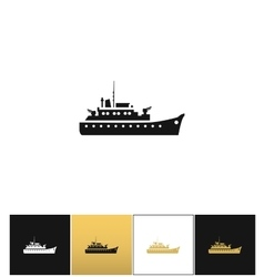 Navy military warship silhouette icon vector image