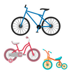 set of bicycles realistic vector image vector image
